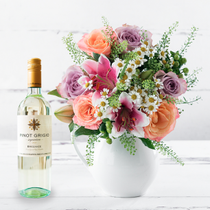 Roses and peonies love bouquet with white wine love bouquet with white wine mightylinksfo